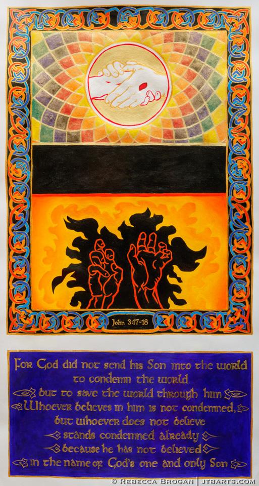 John 3:17-18 illustration of heaven and hell.