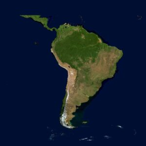 Salvation Testimonies from South American and Central America map.